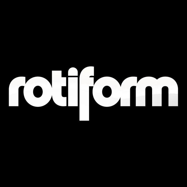 Rotiform Aufkleber Weiß - mittel