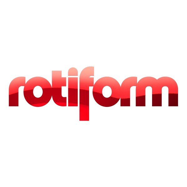 Rotiform Aufkleber Rot Chrom - groß