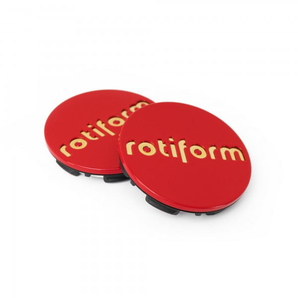 Rotiform Nabendeckel in Rot / Gold