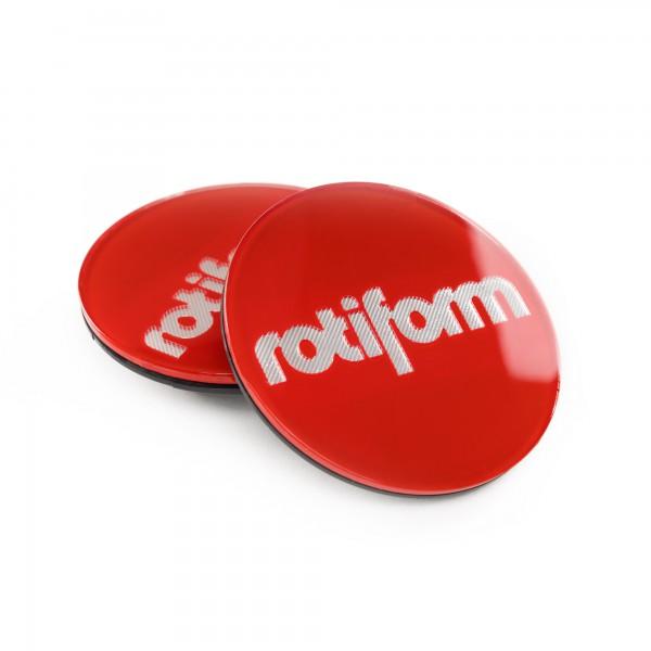 Rotiform Emblem für Zentralverschluss in Rot / Silber